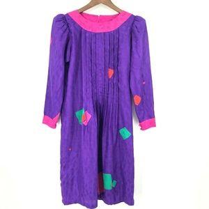 Flora Kung Size 4 Long Sleeve Dress